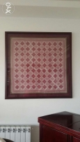 Cross stitch framed art