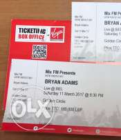 2 Bryan Adams tickets - Biel - Beirut - March 11