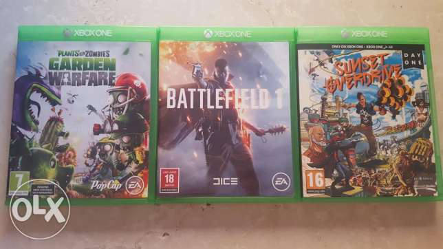 Battliefied 1 + Sunset Overdrive + Plants Vs Zombies
