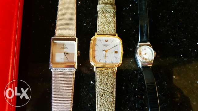 Omega and longines watches boxed