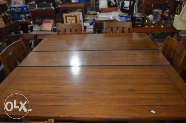 flexible dining table with 6 chairs solid wood