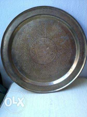 old decorated copper Dish, 50-60 years, 40cm, 20$
