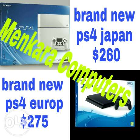 Ps4 slim europ and japan