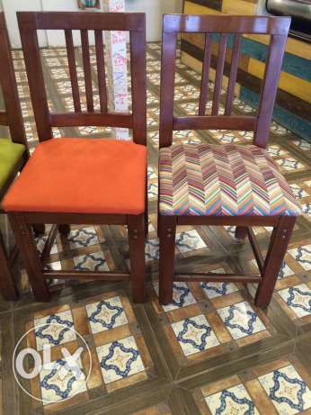 Wooden chairs for sald (خشب زان)