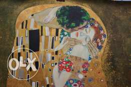 THE KISS by KLIMT - 1908. Reproduction painting
