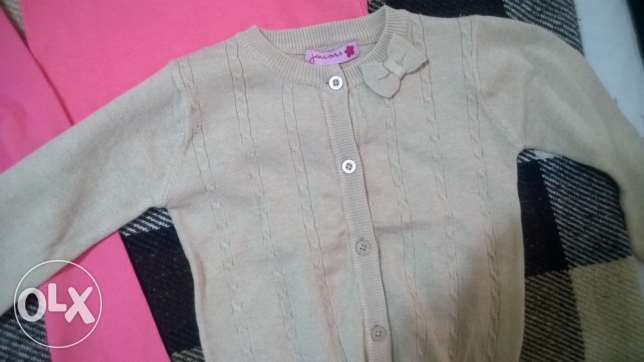 leggings, t-shirt and cardigan juniors size 2-3 years البطركية -  3