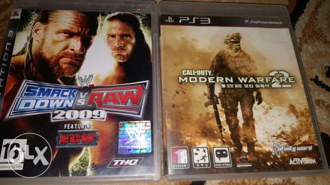 Ps3 cds call of duty mw2 w smackdown vs raw 2009 For trade or sale 50$