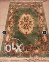 Beautiful 2 wool original chinese Carpet سجادتان صوف صيني أصلي