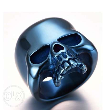 Jewelry Punk Rock Men's Stainless Steel Skull Biker Ring
