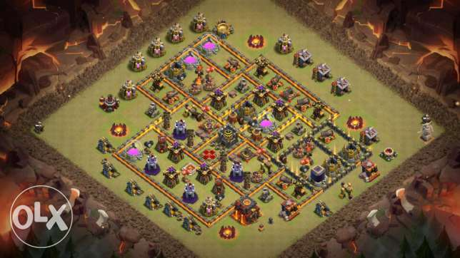 Clash of clans fully maxed th 10