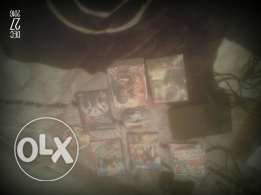 Hi ps2 with 1 control and 25 game and 2 meomries m3 3ilbita60$ wbttnzl