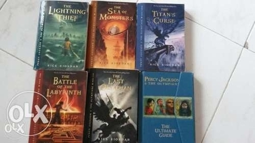 Percy Jackson and TheOlympians 5books+UltimateGuide all for 50,000only