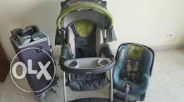 Chicco set - 3 in 1 - Stroller, car seat and bed