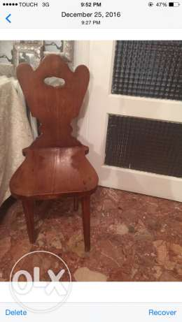 Antique chair for home entry or salon