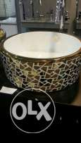 Washbasin white & gold