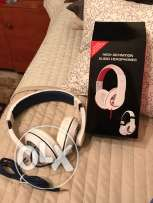 headphones for sale, high def + airplane adapter