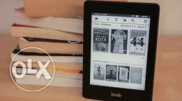Kindle paperwhite + cover + huge ebooks library
