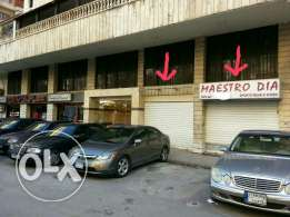 2 shops 137 m for sale between Mo3awad and Hade Nasrallah سوق معوض