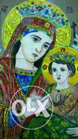 Icon old size 30 x45 painting original