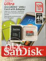 Sandisk 128GB microSD with SD adaptar