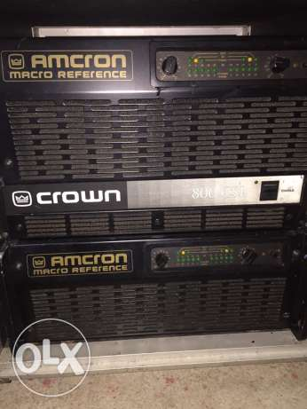 crown amcron macro reference amplifier power