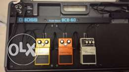 BOSS Guitar Pedals and Pedal Board