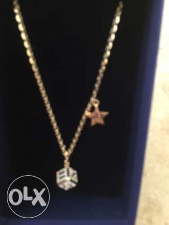 Swarovski Necklase Star and Cube