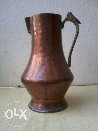 Old Vase, heavy copper hand made, 80-150 years, 30$