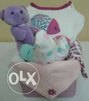 Baby shower gift for Girl (154 Pyjama Fish Basket)