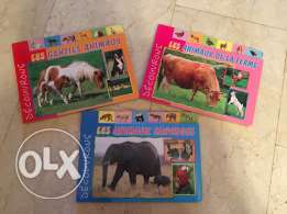 3 French animal books editions Caramel
