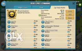 Boom beach level 41 HQ 17 and leader of task force