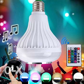 LED colorful remote-controlled bulb + bluetooth speaker (4 photos) فرن الشباك -  3