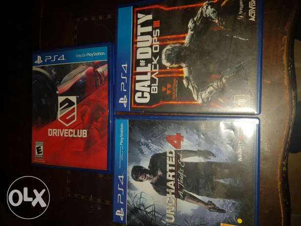 Bo3 and uncharted 4 and driveclub for sale