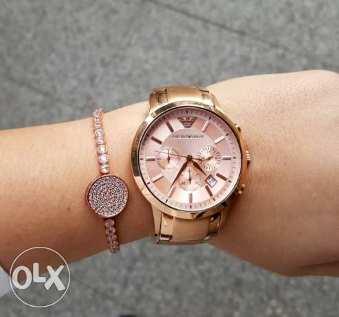 Fancy Rose gold authentic EA for women