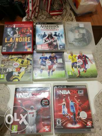 Ps3 + 1 joystick + 8 games very good condition