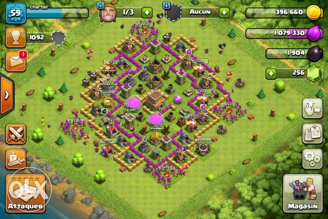 clash of clans town holr level 8 bedder ma7alla 7ayalla seder ps4
