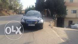 mercedes s350 L look AMG, with plate number 97097