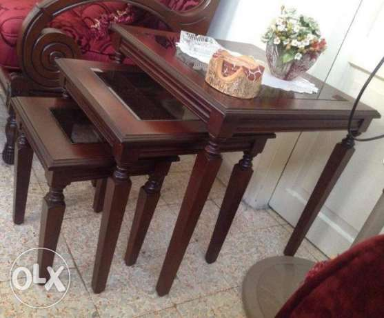 Set of 3 side tables -only 130$ أشرفية -  1