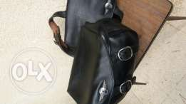 """Harley Davidson Sportster leather side bags """"clean"""""""