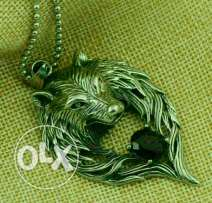 Wolf man necklace