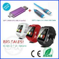 Crazy offer! Bluetooth watch + 2 in 1 cable + flashdrive for cellphone