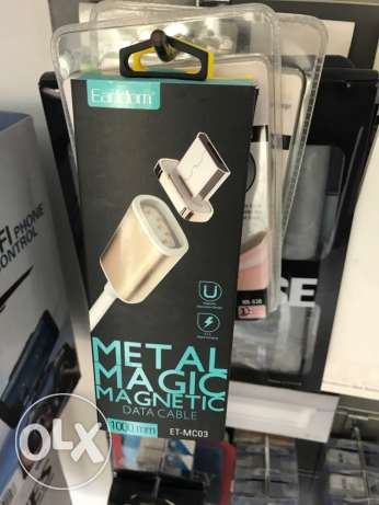 magnet metal magic cable for iphone and Samsung