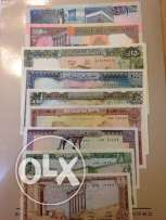 9 uncirculated banknotes from Lebanon