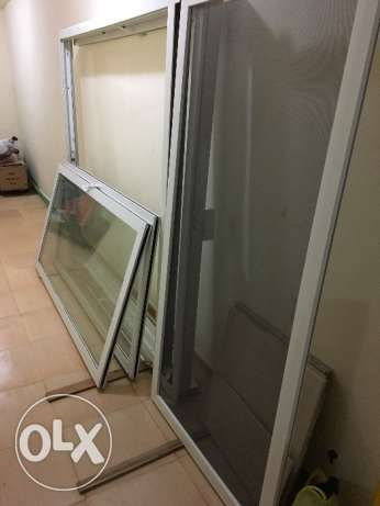 Double Glasse aluminium door with monoblock