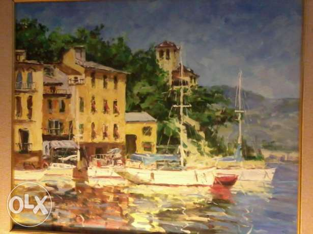 Big Painting, acquarel, 20-30 years old, 80cm, 350$, from Italy