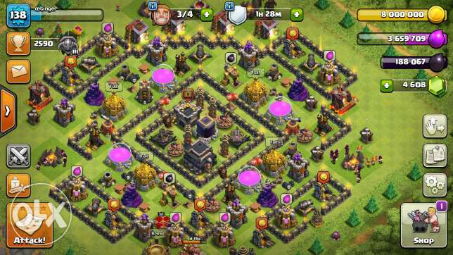 Clash of clans th9 max 100%