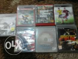 7 cds for ps3 in very good condition