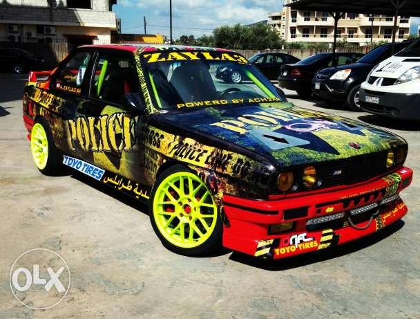 For.sale or trade Bmw 325 24v turbo mjahzeh min.kil.chi lal.drift