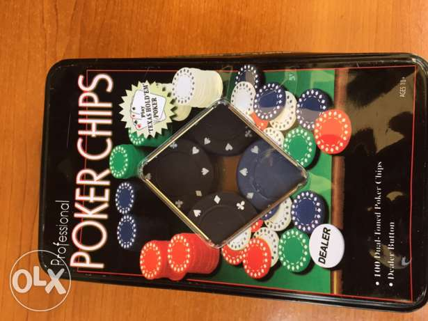 poker set 100 chips new 20$ mansourieh