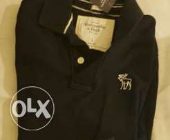 Original Abercrombie&Fitch Black Polo and Navy Blue Short